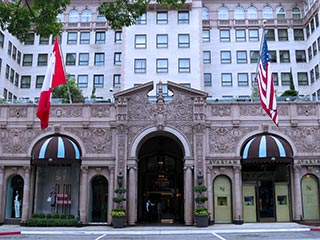 Beverly Wilshire, a Four Seasons Hotel, a Beverly Hills hotel located near Rodeo Drive in the heart of the Beverly Hills business district. [Photo Credit: LAtourist.com]