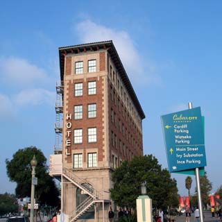 Culver Hotel in Culver City. Hotel reservations for Culver City, Sony Studios, Corporate Pointe and Los Angeles. [Photo Credit: LAtourist.com]