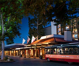 The Garland Hotel near Universal Studios and CityWalk Hollywood in Los Angeles. [Photo Credit: The Garland]