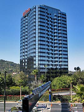 Hilton Universal City. Online Reservations for Hotels near Universal Studios in Los Angeles and CityWalk Hollywood. [Photo Credit: LAtourist.com]