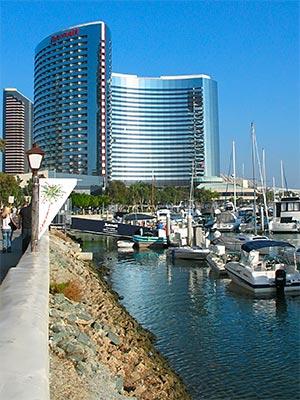 San Diego Marriott Marquis at San Diego Harbor. [Photo Credit: LAtourist.com]