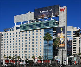 The W Hollywood at Hollywood Boulevard and Vine Street in Los Angeles. [Photo Credit: LAtourist.com]