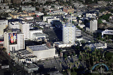 Aerial photograph of Hollywood, California. [Photo Credit: The Aerial Photographer]
