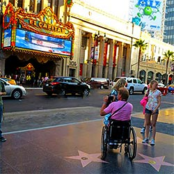 Accessibility for Hollywood Boulevard in Los Angeles, California. [Photo Credit: LAtourist.com]