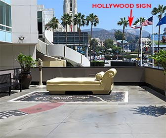 This view of the Hollywood Sign is easily accessible at Hollywood & Highland Center. [Photo Credit: LAtourist.com]
