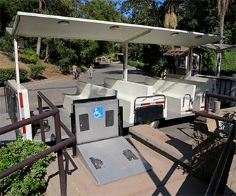 Wheelchair Access to Shuttle at L.A. Zoo. [Photo Credit: LAtourist.com]