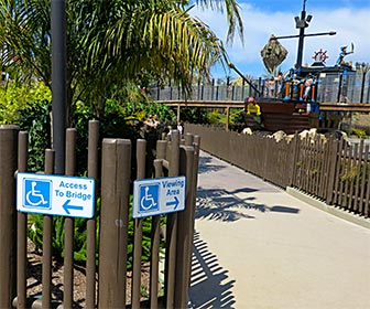 Accessible Paths at LEGOLAND, California. The park has wide paths that are clearly marked. [Photo Credit: LAtourist.com]