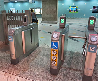 Accessible Turnstile at Hollywood and Highland Metro Train Station. [Photo Credit: LAtourist.com]