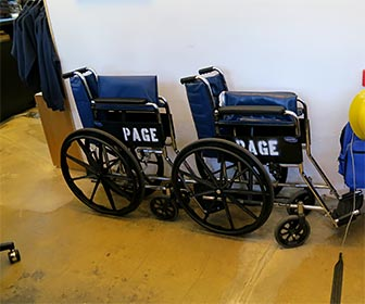 Wheelchairs at La Brea Tar Pits Museum (formerly called Page Museum). [Photo Credit: LAtourist.com]