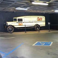 Accessible parking at The Petersen auto museum. [Photo Credit: LAtourist.com]