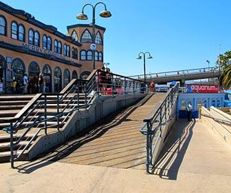 Ramps at the Santa Monica Pier, near the Carousel and the Aquarium. [Photo Credit: LAtourist.com]