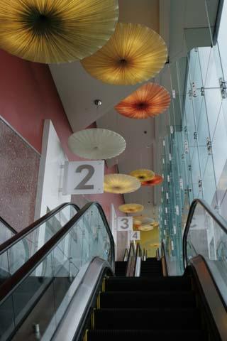 Beverly Center Escalator, Los Angeles. [Photo Credit: LAtourist.com]