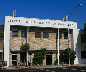 Beverly Hills Chamber of Commerce on South Beverly Drive. [Photo Credit: LAtourist.com]