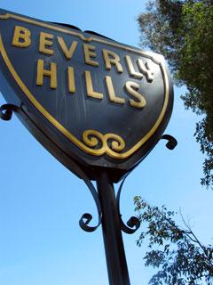 Beverly Hills Sign on Wilshire Blvd, west of Santa Monica Blvd. [Photo Credit: LAtourist.com]