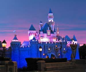 Sleeping Beauty Castle at Disneyland, along with a little PhotoShop magic ;-). [Photo Credit: LAtourist.com]