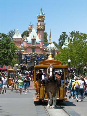 Horse-drawn Streetcar on Main Street at Disneyland. [Photo Credit: LAtourist.com]