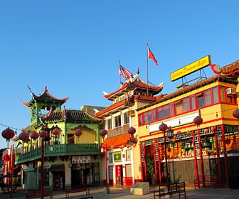Stores at Chinatown in downtown Los Angeles. [Photo Credit: LAtourist.com]