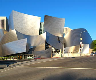 Disney Concert Hall, part of the Performing Arts Center in Downtown Los Angeles. [Photo Credit: LAtourist.com]