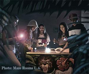 Maze Rooms L.A. Jungle Game. [Photo Credit: Maze Rooms L.A.]