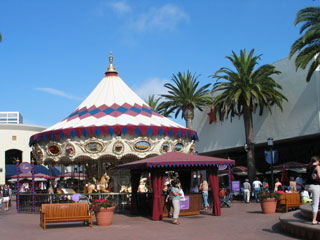 Carousel at Fashion Island shopping district in Newport Beach. [Photo Credit: LAtourist.com]