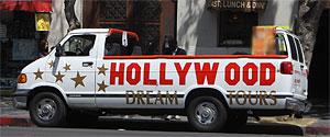 Hollywood Dream Tours on Hollywood Boulevard. [Photo Credit: LAtourist.com]