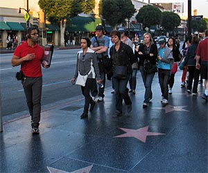 Red Line Walking Tour on Hollywood Boulevard. [Photo Credit: LAtourist.com]