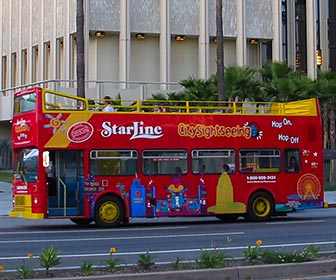 StarLine Tours offers guided tours of Los Angeles and Hollywood. [Photo Credit: LAtourist.com]