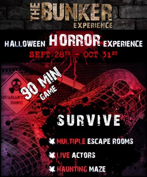 Scarezone at the Bunker Experience escape room game. [Photo Credit: Bunker Experience]