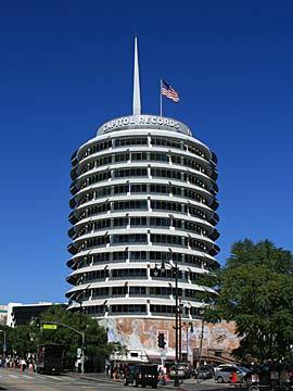 Capitol Records on Vine Street near Hollywood Boulevard in Los Angeles, California. [Photo Credit: LAtourist.com]