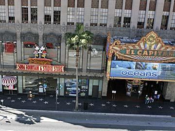 Disney Store and El Capitan Theatre on Hollywood Boulevard. [Photo Credit: LAtourist.com]