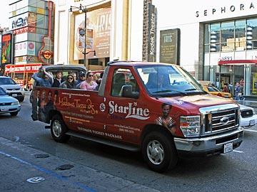 StarLine Tours on Hollywood Boulevard. [Photo Credit: LAtourist.com]