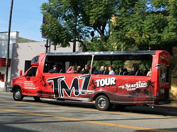 TMZ Hollywood celebrity Tours, operated by StarLine. [Photo Credit: LAtourist.com]
