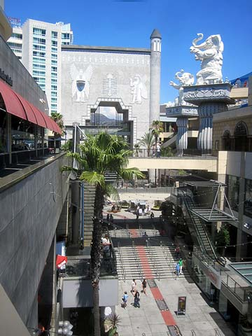 Steps leading from Hollywood Boulevard to the Hollywood and Highland Shopping Complex. [Photo Credit: LAtourist.com]