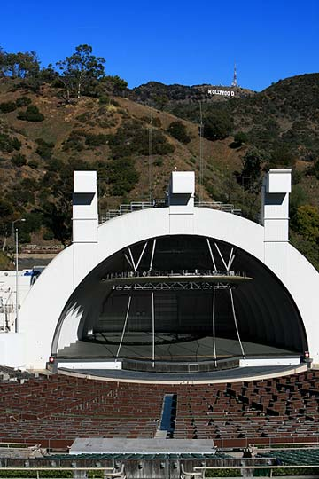 Hollywood Bowl, with the Hollywood Sign in the background. [Photo Credit: LAtourist.com]