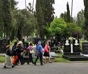 Hollywood Forever Cemetery Historical Tours at Hollywood Forever Cemetery. [Photo Credit: LAtourist.com]