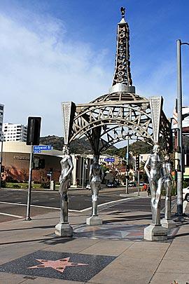 Hollywood La Brea Gateway at the intersection of La Brea Avenue and Hollywood Boulevard. [Photo Credit: LAtourist.com]