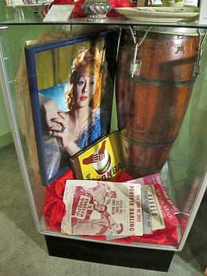Exhibit at the Hollywood Museum near the intersection of Hollywood Boulevard and Highland Avenue. [Photo Credit: LAtourist.com]