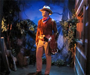 John Wayne Exhibit at Hollywood Wax Museum. [Photo Credit: LAtourist.com]