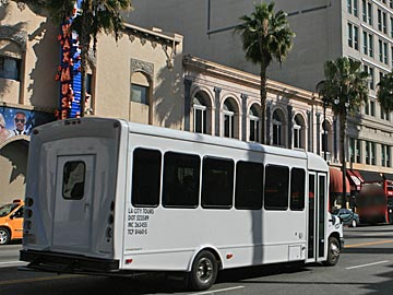 LA City Tour bus on Hollywood Boulevard. [Photo Credit: LAtourist.com]