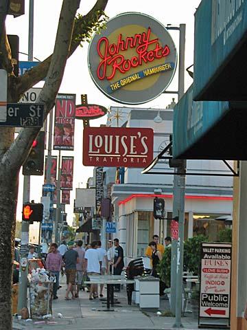 Johnny Rockets on Melrose Avenue. [Photo Credit: LAtourist.com]
