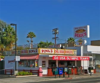 Pinks Hot Dogs on La Brea Avenue in Los Angeles. [Photo Credit: LAtourist.com]