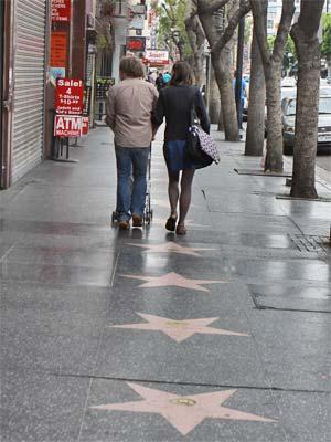 Walk of Fame Stars on Hollywood Boulevard. [Photo Credit: LAtourist.com]