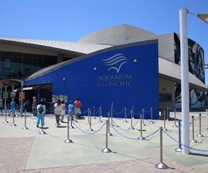 Entrance to Aquarium of the Pacific in Long Beach, California. [Photo Credit: LAtourist.com]