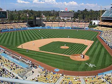 Baseball game at Dodger Stadium. [Photo Credit: LAtourist.com]