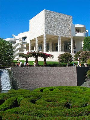 Garden and museum wing at the Getty Center in West L.A. [Photo Credit: LAtourist.com]