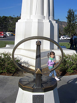 Sundial on the front lawn at Griffith Park Observatory. [Photo Credit: LAtourist.com]