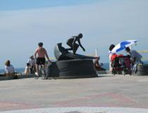 Statue at the Hermosa Beach Pier. [Photo Credit: LAtourist.com]