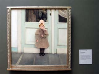 Portrait of Jeanne Kefer by Fernand Khnopff at the Getty Center museum in Los Angeles. [Photo Credit: LAtourist.com]