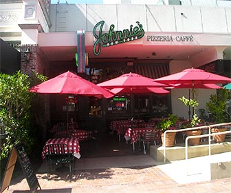 Johnnies Pizzeria at Museum Square, Miracle Mile in Los Angeles. [Photo Credit: LAtourist.com]