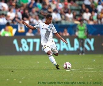 Giovani dos Santos of the L.A. Galaxy. [Photo Credit: Robert Mora and Hana Asano / L.A. Galaxy]